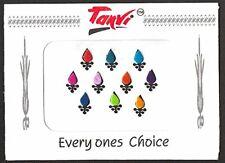 Multicoloured Petal Shaped Velvet Bindi's - Pack of 10 - 8mm