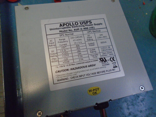 V5 UNINTERRUPTIBLE SWITCHING POWER SUPPLY FREE SHIPPING Apollo USPS AUP-X-400