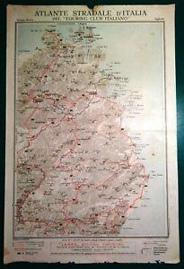 Cartina Stradale Sardegna Nord Ovest.Carta Geografica Antica Sardegna Nord Nuoro Tempio Tci 1920 Old Antique Map Ebay