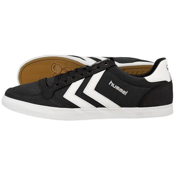 HUMMEL SLIMMER STADIL LOW TOP zapatilla de deporte zapatos negro blanco 63-512-2113 HANDBALL