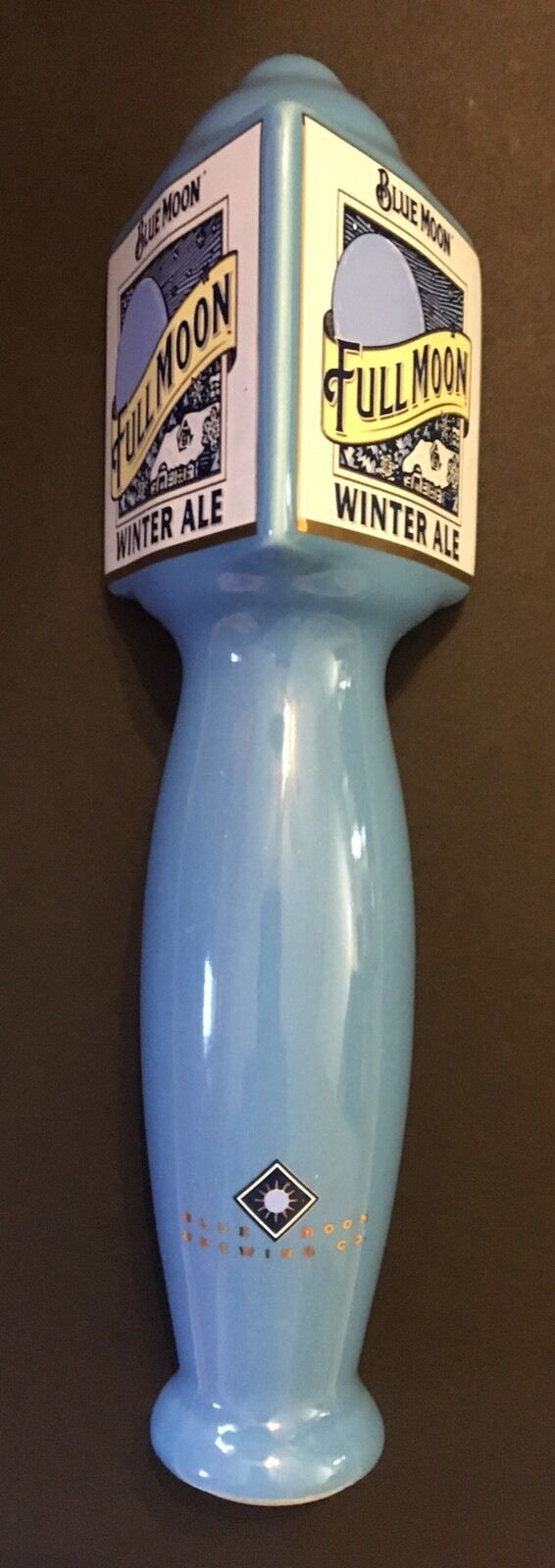 Beer Tap Handles, Knobs - Blue Moon Brewing Co. Full Moon Winter Ale ...