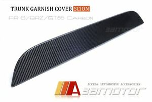 TOYOTA-GT86-ZN6-SCION-FRS-SUBARU-BRZ-Carbon-Fibre-Boot-Lid-Garnish-Cover-Trim
