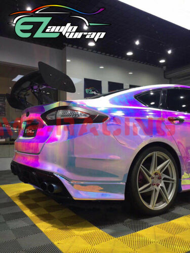 *Premium Neo Chrome Rainbow Holographic Vinyl Wrap Sticker Decal Air Release