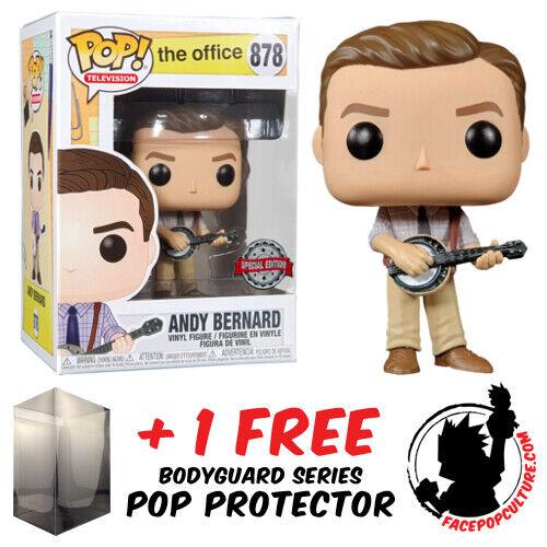 FREE POP PROTECTOR FUNKO POP THE OFFICE ANDY BERNARD EXCLUSIVE VINYL FIGURE