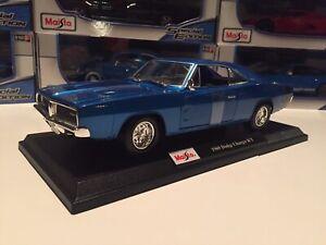 Nuevo-1969-Dodge-Cargador-RT-Die-Cast-Maisto-Special-Edition-1-18-Escala