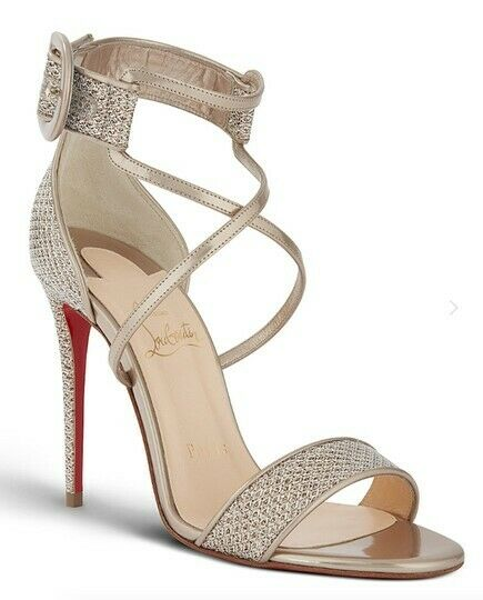 best sneakers f0d54 56cd3 New Christian Louboutin Choca 100 100 100 Colombe Glitter ...