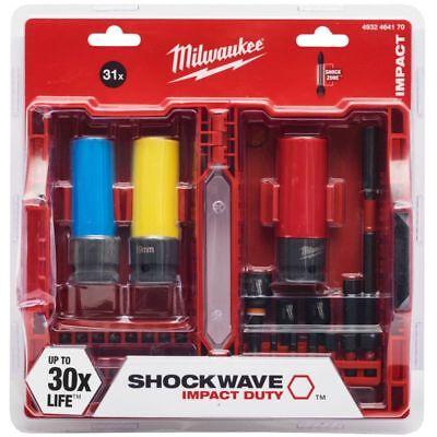 Milwaukee 4932464170 Shockwave Impact Duty Bit Set Screwdriving /& Socket Set