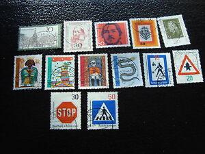 Germany-Rfa-Stamp-yt-N-519-A-531-Obl-Stamp-Germany
