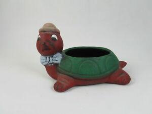 Vintage-Porcelain-Covered-Trinket-box-Dish-Turtle-6-5-Home-Decoration