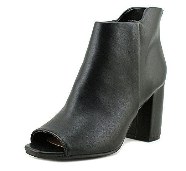 Seven Dials Womens Tinsley Peep Toe Ankle Fashion Boots Fashion, Black, Size 7.5