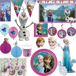 die eisk nigin kindergeburtstag party set geburtstag deko anna elsa olaf disney. Black Bedroom Furniture Sets. Home Design Ideas