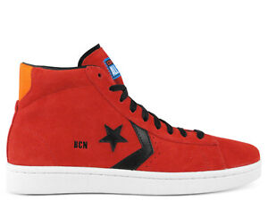 converse pro leather uomo rosse
