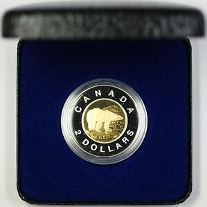 1996 Canada $2 Toonies Proof Coin Polar Bear with COA