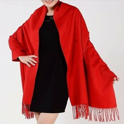New Women's red Soft pashmina Wrap Shawl Chiffon Scarf Long Stole scarves