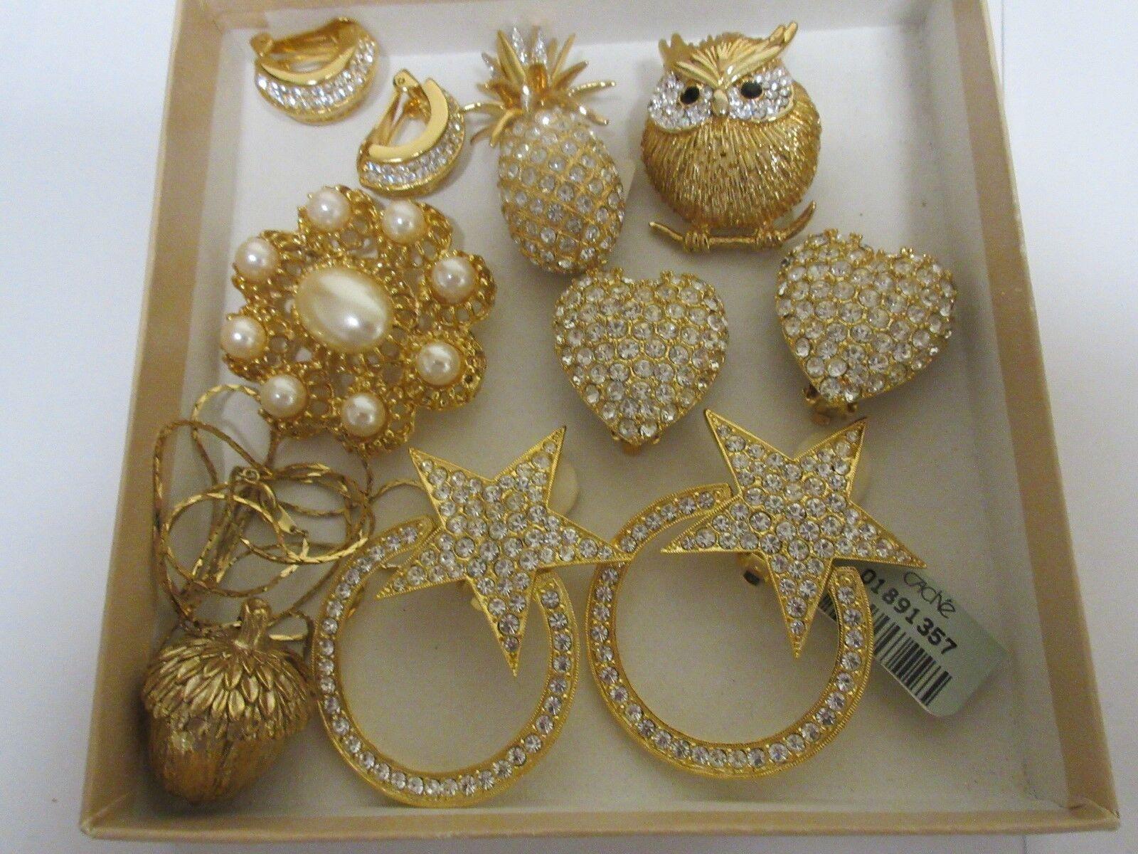 Costume Jewelry , Vintage , Brooch/Pin , Earrings ,Neck