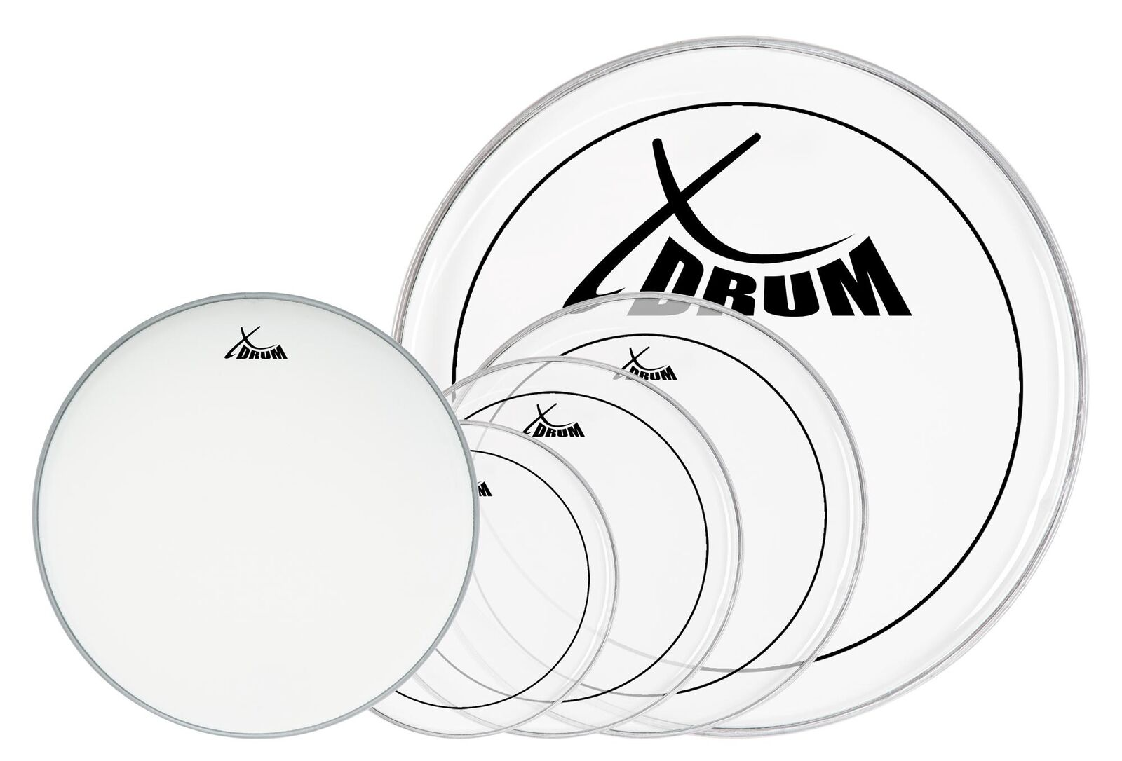XDrum Session 10,12,14,22+14  kompl. Fellset Schlagzeug