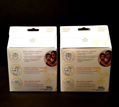 Medela Breastmilk Storage Bags 6 oz with Bonus Transport Pouch 2 Boxes 100 Total