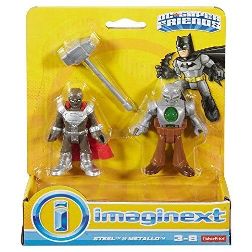 Fisher-Price Imaginext DC Super Friends Steel and Metallo figures Bought in USA