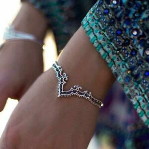 Damen-Retro-Mode-Boho-Dreieck-Hohl-Armband-Damen-Schmuck-Zubehoer-Geschenke-O9R6