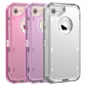 free shipping b9d03 0c8c0 Details about Clear Defender Transparent Case for iPhone 8 Plus XR 7 Plus  Clip Fits Otterbox
