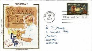 Estados Unidos de América USA 1972 Trasero farmacéutica estadounidense Colorano Seda FDC
