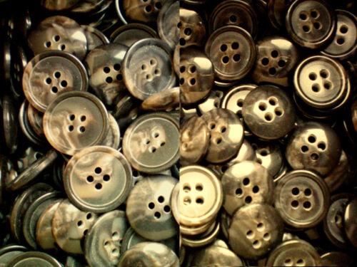 15mm /& 20mm marron chocolat à motifs 4 Trou Boutons de qualité différents packs ml9