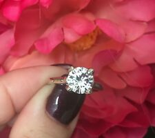 Charles & Colvard Forever One 8mm (Approx 1.92- 2ct) Moissanite Ring