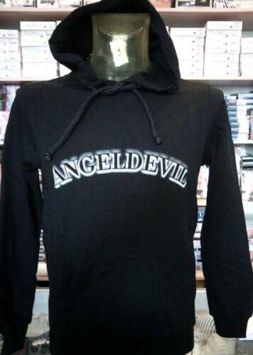 Pockets /& Hood Art. Details about  /Men/'s Sweatshirt Angel Devil Closed with Logo Printed