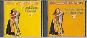 Cd - Lot de 2 cd 100 ans de bal musette