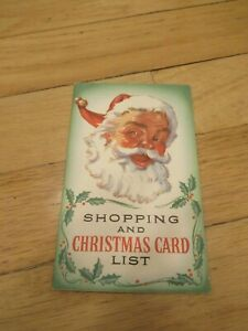 Vtg-Shopping-and-Christmas-Card-List-ADVERTISING-First-Federal-Savings-amp-Loan