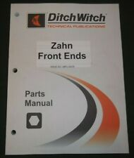 Ditch Witch Zahn Front Ends Parts Manual Book Catalog 08pl 0409 053 1169