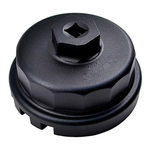BLK 64mm 14 Flutes Cap Housing Oil Filter Wrench for Lexus ES300h//350 IS250//350