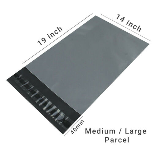 GREY MAILING bags small medium large extra strong seal post parcel packing