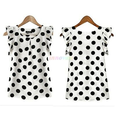 Women Office Dress Casual Chiffon Blouse Polka Dot Shirt T-shirt Blouse Tops HOT