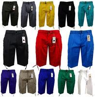 Men's BTL Cargo Shorts with Belt 30 32 34 36 38 40 42 44 Cotton Twill Casual