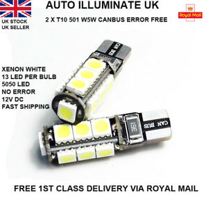 T10-501-W5W-CAR-LED-SMD-ERROR-FREE-CANBUS-XENON-WHITE-SIDE-LIGHT-BULBS-LAMP-12V
