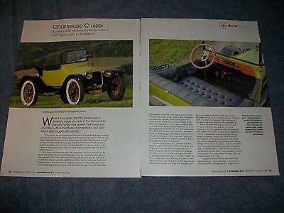 "1915 Buick Modell C-36 Roadster Info Artikel "" Chartreuse Cruiser"