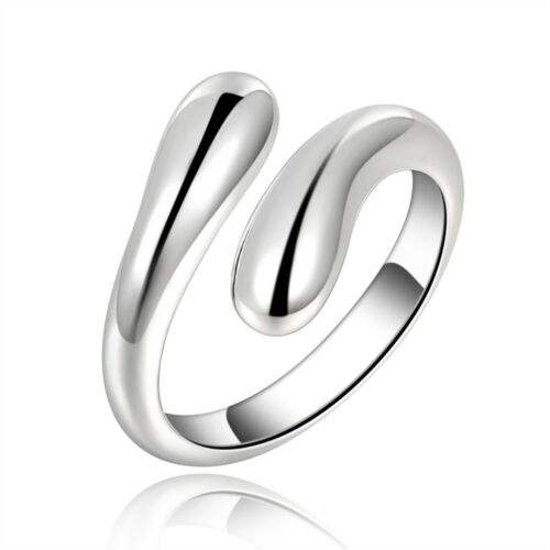 925 Sterling Silber Designer Ring Damen Schmuck Modern Neu Verstellbar Geschenk