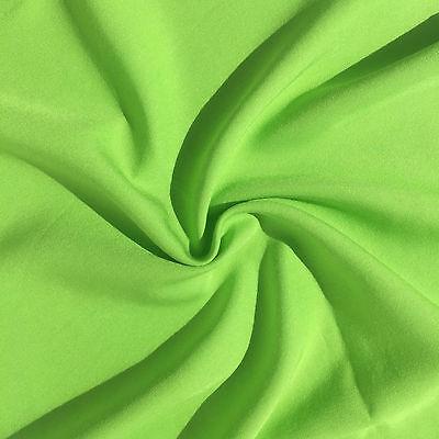 "60"" Neon Green Screen Tencel Gabardine Twill Medium Weight Woven Fabric By Yard"