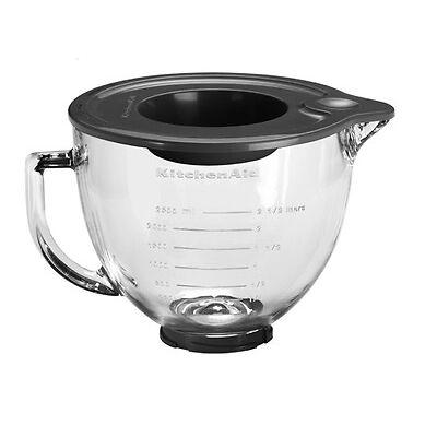 KitchenAid Glasschüssel 4,83 l Schüssel mit Silikondeckel 5K5GB Kitchenaid