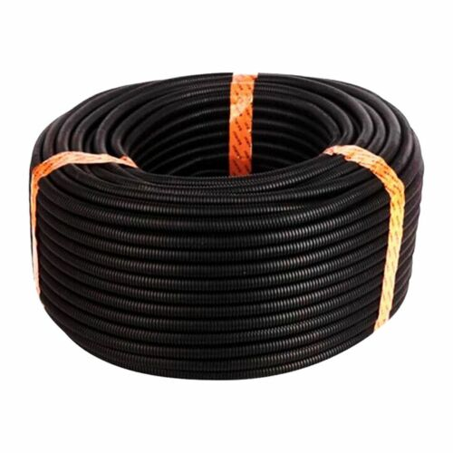 "10Ft 1/"" Split Wire Loom Conduit Polyethylene Tubing Black Color Sleeve Tube M7X6"