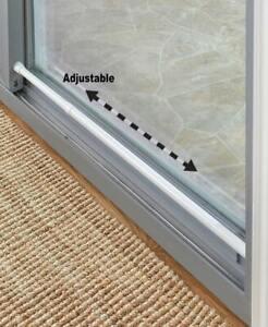 Home-Security-Sliding-Door-Bar-Safety-Lock-Adjustable-Rubber-Tips-Portable