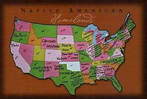 Indian Tribes In Us Map.Native American Homelands In The United States Indian Tribes State