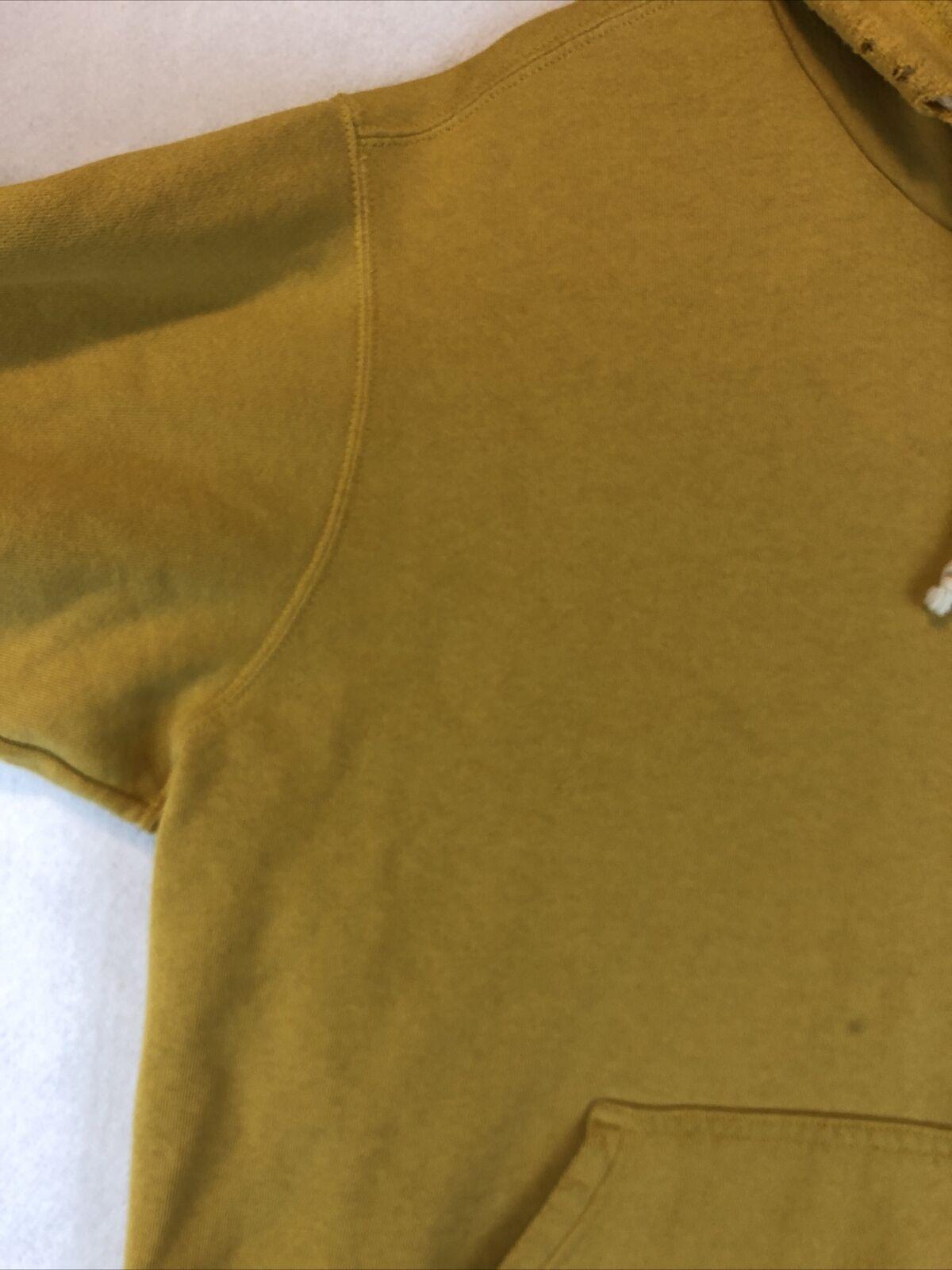 VTG Nike Rare Mustard Yellow Hoodie Sweatshirt Si… - image 4