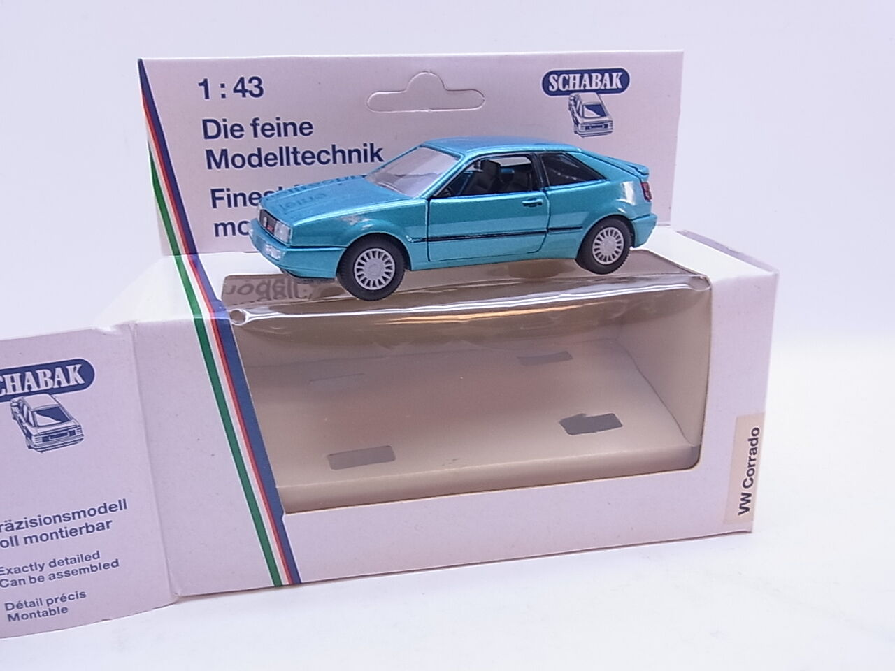 Lot 40673   SCHABAK 1018 VW Corrado vert metallic 1 43 voiture miniature nouveau dans neuf dans sa boîte