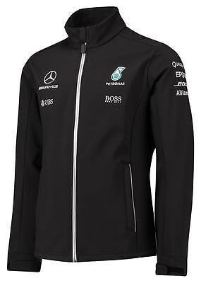 Mercedes Benz Formula 1 AMG Petronas  Black Team Softshell Jacket