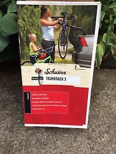 Schwinn Bicycle Trunk Rack 3 Bicycle Bike Holder Carrier for Car