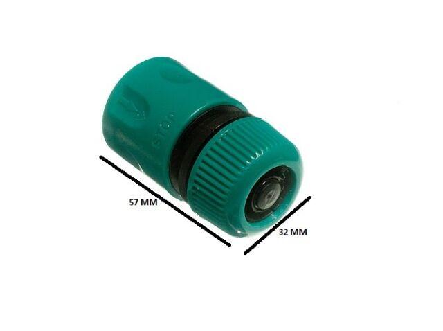 Quick fix snap fit garden hose quick connectors flow through pack of 200