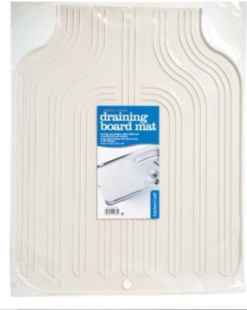KitchenCraft Thick Rubber Sink Draining Board Protector Mat