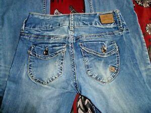 Paris Blues Juniors Cinco Bolsillos Blue Jeans Pantalones De Mezclilla Stretch Para Mujer Talla 27 Ebay